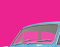 Vintage Car Vector Posters