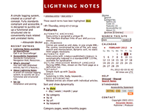 Lightning Notes [A Simple Blogging System]