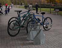 Bicicletero plaza Micaela Bastidas