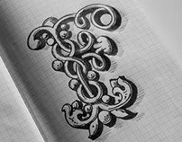 Ornamented Letters Sketchbook