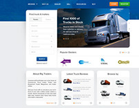 Transport Web Design Layout