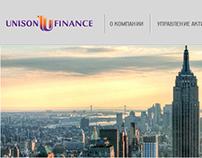 "Web-site for ""Unison Finance"""
