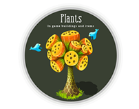 Plants: In game buildings and items