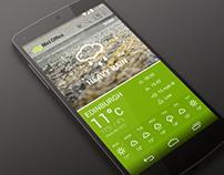 Met Office Android App Re-Design Concept