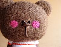 """""""Teddy Jr. """" needle felted figurine"""