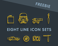 EIGHT LINE ICON SETS