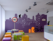Learning center wall-art concept