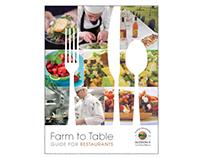 Farm to Table Brochure for Restaurants