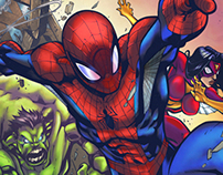 Avenging Spiderman Colors