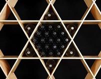 ISOVIN Birch wine rack