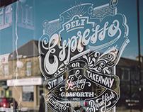 Deli Espresso Window Sign