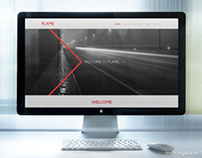 """Flame"" One page website template."