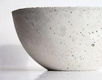 White Concrete Bowls