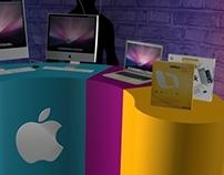 University fair stand for Apple