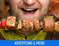 Advertising | Menu | «Shashliki 195 rub»