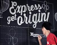 White Chalk Wall typo - Mr Ego Coffee & Tea