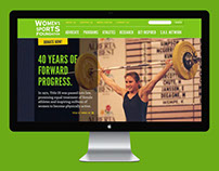 Women's Sports Foundation Website Design