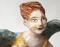 Paper mache sculpture Angel 1.0