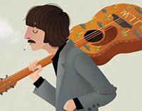 Darjeeling Limited/Beatles Mash Up Illustration