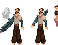 Robo Ti0971 and Pirate Flin