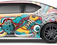 SCION X ABC Car Wrap