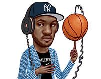 Nike Tees Lebron James and Kobe Bryant
