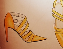 Women's shoes- Hand made sketch