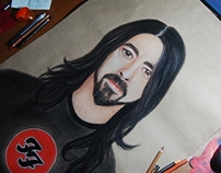 Portrait (Dave Grohl) of Foo Fighters.