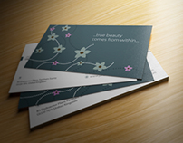 Minimalist Floral Business Crad