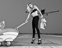 Action shoot with pregnant Supermodel Patricia Kaiser