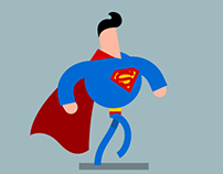 Super Hero Animated Walk Cycles
