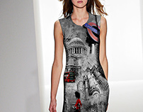 "Digital Print for Women's Wear ""Brit"""
