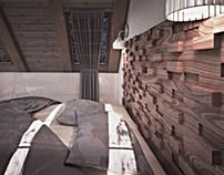 3D rendering, bedroom, caustics tests