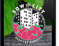 Sow the City // Community garden mobile app.