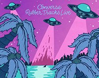 """Converse """"Rubber Track Live"""" concert poster"""
