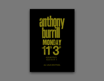 Anthony Burrill Lecture Poster