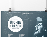 Richie Kotzen European Tour 2014 Poster