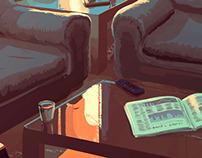 Empty room - Animated gif illustration