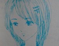 蓝色中性笔