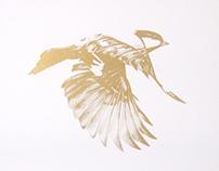 Flight 02 limited edition Gold screen print