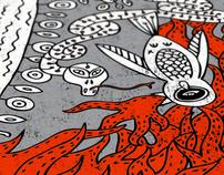 "snowboard design ""Hell""/ 2008"