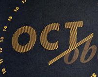 October Calendar Sheet