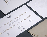 BO & OAK Wedding Invitation