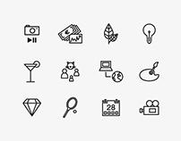 High Standard · Identity, icons, stationery set.