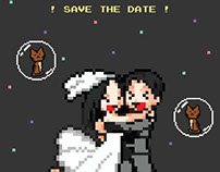 "Redesign - Video Game ""Save the Date"" Wedding Invite"