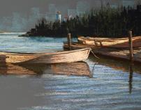 Transluscent Boats. Swan's Island, Maine