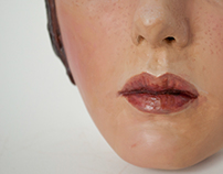 Clay and Paint Study: Female Face