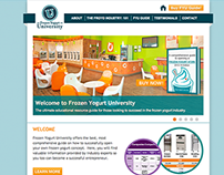 Soft Serve Shop Education Site Design