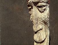 Wood sculpture - Buddy