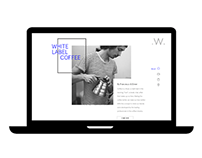 White Label Coffee (website concept)